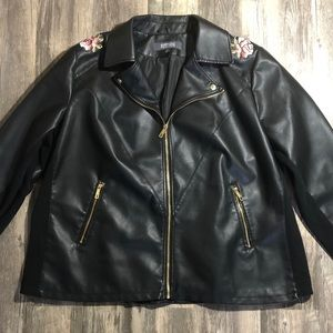 Kenneth Cole Reaction Black Faux Leather Jacket